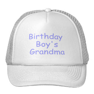 Birthday Boy's Grandma Hats