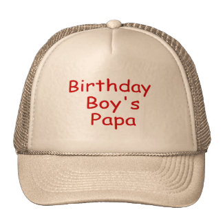 Birthday Boy's Papa Mesh Hats