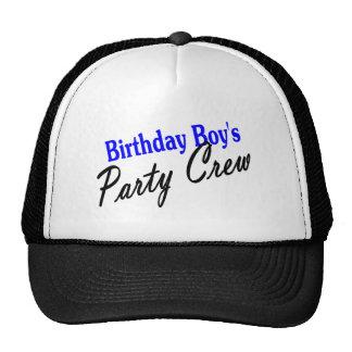 Birthday Boys Party Crew Trucker Hats
