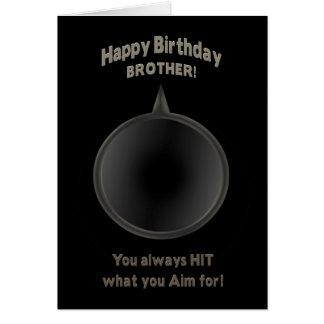 BIRTHDAY - BROTHER - GUN - AIM GREETING CARD