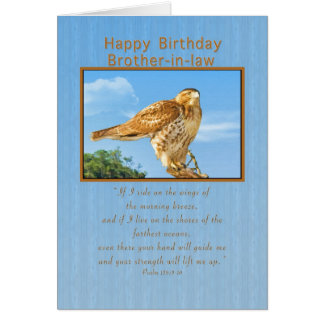 Birthday, Brother-in-law,  Rough-legged Hawk Card