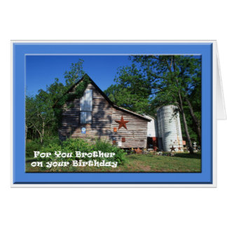 Birthday - Brother Old Virginia Barn Card