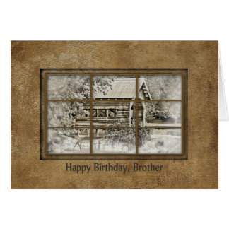 Birthday - Brother - Window View -Covered Bridge Card