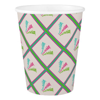 Birthday Bugle Paper Cup