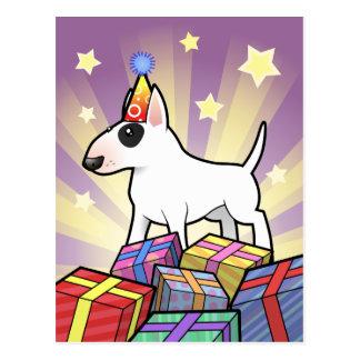 Birthday Bull Terrier Post Cards