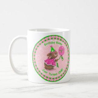 """Birthday Bunny Just Turned One!"" Classic Mug"