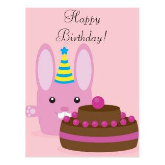 Birthday bunny postcard