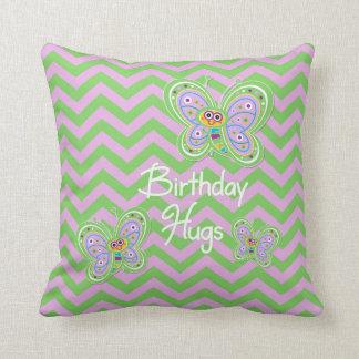 Birthday Butterfly Hugs Cushion