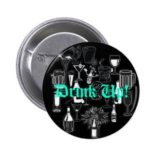 Birthday Button, Drink Up! 6 Cm Round Badge