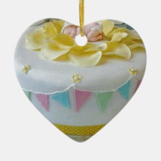 _birthday cake 2 ceramic ornament