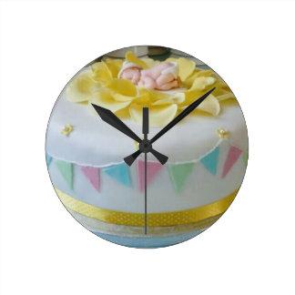 _birthday cake 2 wall clock