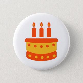 Birthday cake 6 cm round badge