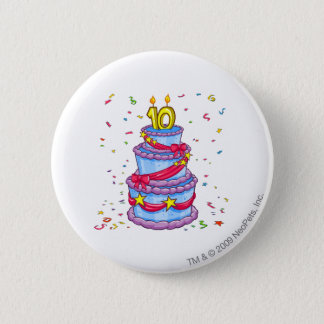 Birthday Cake 6 Cm Round Badge