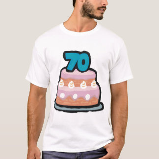 Birthday Cake 70th Birthday Gifts T-Shirt