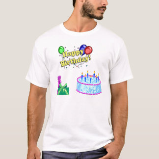 BIRTHDAY CAKE AND BALLOONS T-Shirt