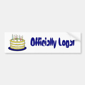Birthday Cake and Candles Bumper Sticker