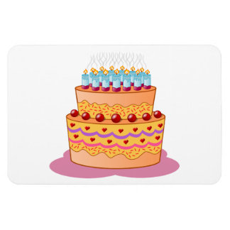 Birthday cake clipart rectangle magnets