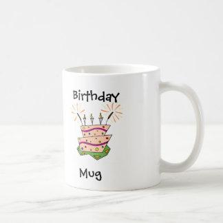 Birthday Cake Fun Basic White Mug