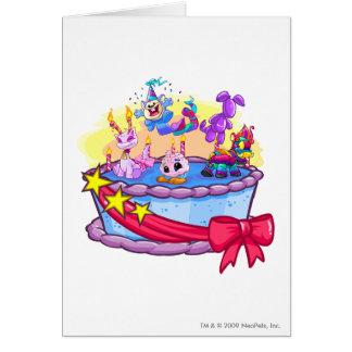 Birthday Cake Group Shot Greeting Card