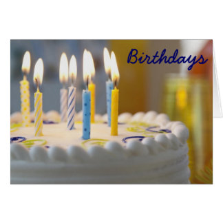 Birthday Cake Lit and Ready Birthday Card