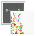 Birthday Cake Magnet Pinback Buttons