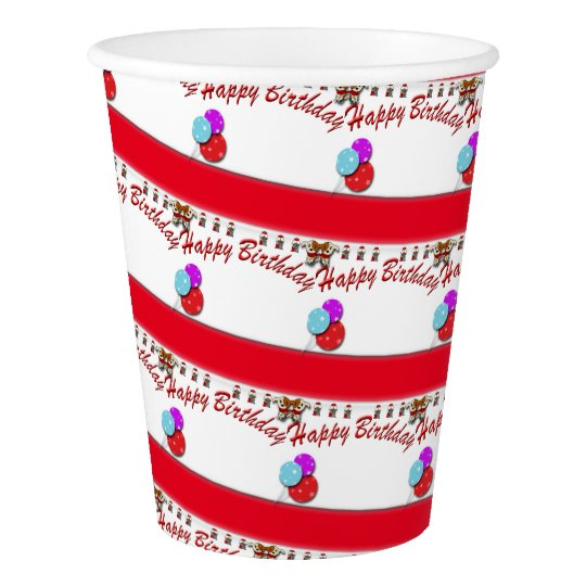 Birthday cake paper cup