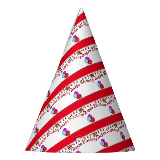 Birthday cake party hat