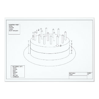 Birthday Cake Plan Card