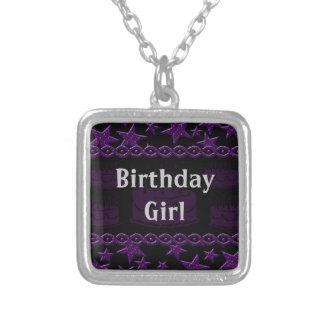 Birthday Cake Rock Star In Purple Birthday Girl Custom Jewelry