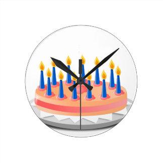 Birthday Cake Round Clock