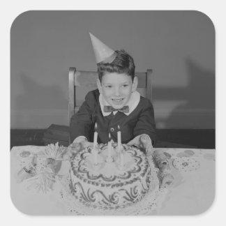 Birthday Cake Square Sticker