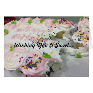 Birthday Cake Sweets Card