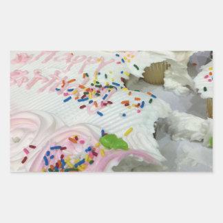 Birthday Cake Sweets Rectangular Sticker