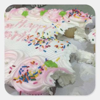 Birthday Cake Sweets Square Sticker