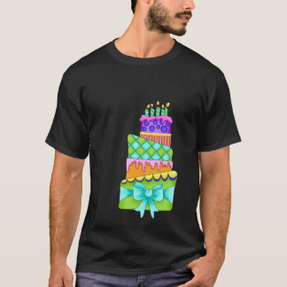 Birthday Cake T-Shirt - (Men Black - cake only)