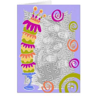 birthday cake - template card