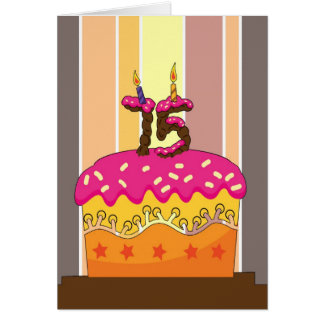 birthday - cake with candles 75 - 75th birthday gr card