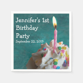 Birthday Candle Cupcake Paper Serviettes