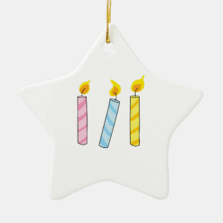 BIRTHDAY CANDLES CERAMIC ORNAMENT