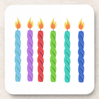 Birthday Candles Beverage Coasters