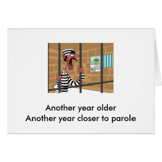 Birthday Car for Prisoner Card