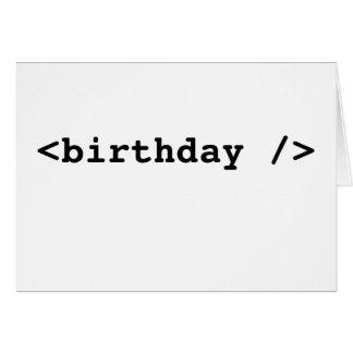 <birthday /> card