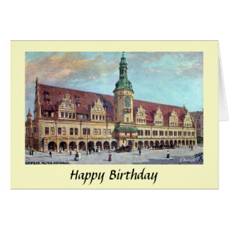 Birthday Card - Altes Rathaus, Leipzig