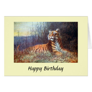 Birthday Card - Bengal Tiger