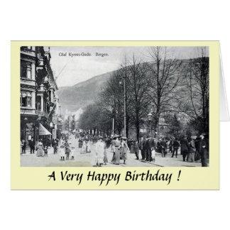Birthday Card - Bergen, Norway