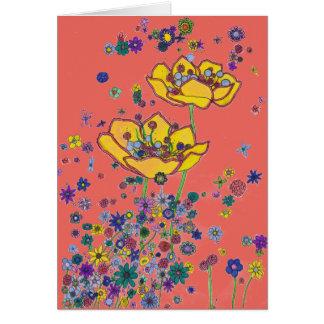 Birthday Card - Big Yellow Flowers