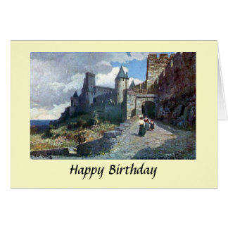 Birthday Card - Carcassonne. Aude, France