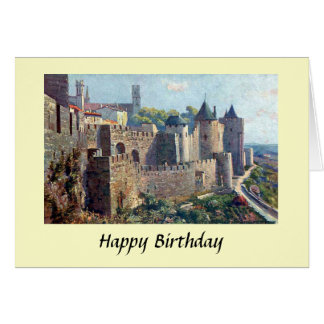 Birthday Card - Cité de Carcassonne, France