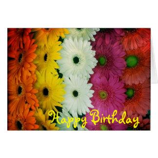 Birthday card~ Colorful Gerbera Daisy Card