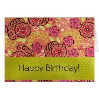 Birthday Card - Floral Burst